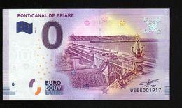 France - Billet Touristique 0 Euro 2018 N° 1917 (UEEE001917/5000) - PONT-CANAL DE BRIARE - EURO