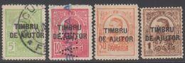 ROUMANIE 1915-16 4 TP Au Profit Des Familles Des Mobilisés N° 232 à 235 Y&T Oblitéré (233 Perforé BA), 234 Et 235 Neuf * - Usati