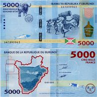 BURUNDI       5000 Francs       P-53       15.1.2015       UNC - Burundi