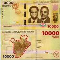 BURUNDI       10,000 Francs       P-54       15.1.2015       UNC  [ 10000 ] - Burundi
