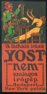SZÁMOLÓCÉDULA   Yost írógép  /  COUNTING CARD Yost Typewriter - Vieux Papiers