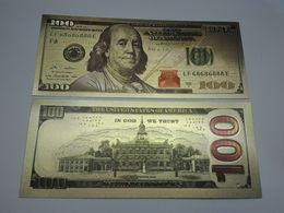 USA 100 Dollars NewType Polymer Fantasy Gold Banknote - Bilglietti Della Riserva Federale (1928-...)