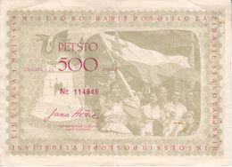 0812  SLOVENIA  OBVEZNICA   500  DINARJEV   1953 - Slovénie