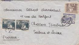 COVER POLSKA. 26 11 36.  KRAKOW TO FRANCE. 1 STAMP BACK - Briefe U. Dokumente