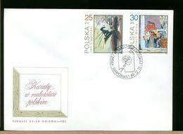 POLSKA - FDC - 1989 - ROSA ROSE - MALARSTURIE - FDC
