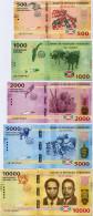 BURUNDI     Set 500-1000-2000-5000-10,000 Francs       P-50>>P-54       15.1.2015       UNC - Burundi