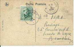 Zichtkaart Waulsort Met OCB 167 - Afstempeling WAULSORT - 1919-1920 Albert Met Helm
