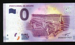 France - Billet Touristique 0 Euro 2018 N° 1922 (UEEE001922/5000) - PONT-CANAL DE BRIARE - EURO