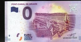 France - Billet Touristique 0 Euro 2018 N° 1925 (UEEE001925/5000) - PONT-CANAL DE BRIARE - EURO