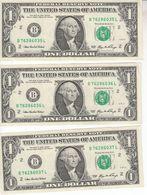 0814   USA  3  X  0NE DOLLAR   B 76286035L--36L--37 L - United States Of America