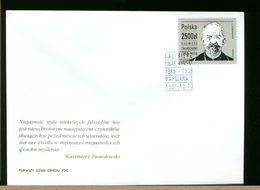 POLSKA - FDC - 1991 -  KAZIMIRIEZ TWARDOWSKI - FDC
