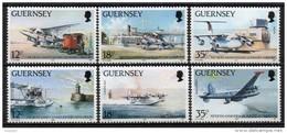 Guernesey - 1989 - Yvert N° 455 à 460 ** - Avions, Aéroport De Guernesey - Guernesey