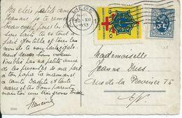 Fantasiekaart Met OCB 285 - Afstempeling LIEGE - Met Antiteringvignet - 1929-1937 Heraldieke Leeuw