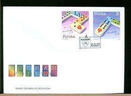 POLSKA - FDC - 1999 - GIOCHI - KOCHAM - CIE - LOVE - DOMINO - FDC