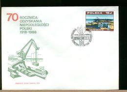 POLSKA - FDC - 1988 - PORT GDYNIA - FDC