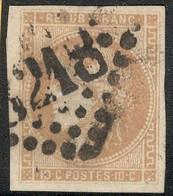 France Yvert 43Ac Oblit. TB Sans Défaut  Grandes Marges Cote EUR 130+  (numéro Du Lot 342G) - 1870 Emission De Bordeaux