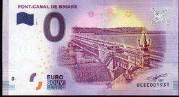 France - Billet Touristique 0 Euro 2018 N° 1931 (UEEE001931/5000) - PONT-CANAL DE BRIARE - EURO