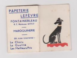 Agenda Miniature Papeterie Lefèvre Fontainebleau De 1966 - Calendriers