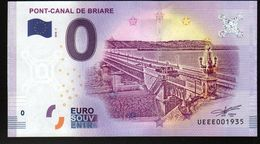 France - Billet Touristique 0 Euro 2018 N° 1935 (UEEE001935/5000) - PONT-CANAL DE BRIARE - EURO