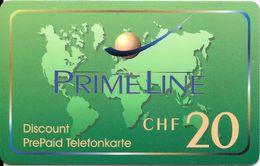 Prepaid: Prime Line, Kontinente (mit Strichcode) - Schweiz