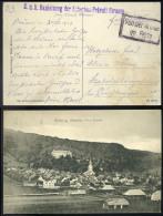 I. VH 1917. Képeslap Tábori Postával Bauleitung Der Scheriau-Pravali Strasse Bélyegzéssel  Szabolcsbányatelepre  /  WW I - Gebraucht