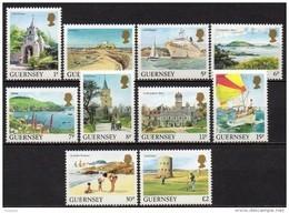 Guernesey - 1985 - Yvert N° 327 à 336 ** - Série Courante, Vues De L'Ile - Guernesey