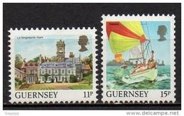 Guernesey - 1987 - Yvert N° 395 & 396 ** - Série Courante, Vues De L'Ile - Guernesey