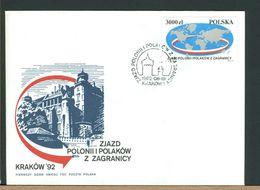 POLSKA - FDC - 1992 - POLONII I POLAKOW ZAGRANICY - FDC