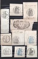 Lot De 32 Cachets  époque Royale Timbres Des Années 1850 à 1895 - Seals Of Generality