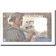 France, 10 Francs, 10 F 1941-1949 ''Mineur'', 1941, 1941-10-09, KM:99b, SPL - 1871-1952 Circulated During XXth