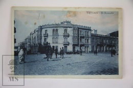 Old Postcard Morocco - Tetuan - El Eusanche - Animated - Marruecos