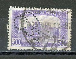 HONGRIE - DIVERS - N° Yvert 339 Obli.  PERFORÉ A VOIR - Ungheria