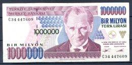 459-Turquie Billet De 1 000 000 Lira 1995 C34 - Turkey