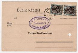 WIESBADEN 1922   CHR. LIMBARTH  BUCHHANLUNG - Zone Belge