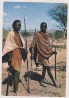 Afrique,africa East,MASAI WARRIORS,guerrier,avec Lance,tenue De Combat,femme Tueuse - Rwanda