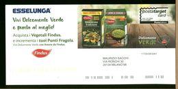 ITALIA - CARTOLINA INTERO POSTALE - ESSELUNGA SUPERMARKET - VEGETABLE FINDUS - Alimentation