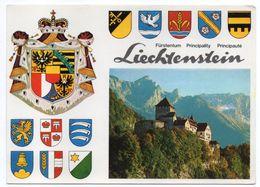 LIECHTENSTEIN--1980--Chateau + Nombreux Blasons --- Cachets  + Beau Timbre - Liechtenstein