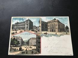 Souvenir De GENEVE Rue Du Mont Blanc Victoria Hall Hotel Des Postes - - GE Genève