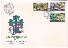 Portugal, 1963, # 916/8, FDC 8º Centenário Da Ordem Militar De Avis - FDC