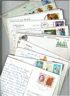 TOUS PAYS. / 1500 Timbres  Sur Cartes Postales / Voir Détails - Timbres