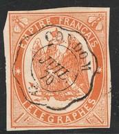 France Yvert Telegraphe 3 Oblit. TB 4 Marges Sans Défaut Cote EUR 325 (numéro Du Lot 362AC) - Télégraphes Et Téléphones
