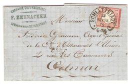 N° 16 (Allemagne) Obl Fer à Cheval SCHLETTSTADT 22/11/72 Pour Colmar - Alsace-Lorraine