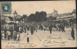 CPA Espagne 51 Valencia Estacion Del Norte Circulée 1905 CAD Castellon 21 Ago 1905 - Valencia