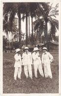 Photo 4 Hommes Aux Colonies, Palmiers – Photo Goethe - Personas Anónimos