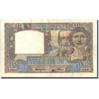 France, 20 Francs, 20 F 1939-1942 ''Science Et Travail'', 1941, 1941-12-04 - 1871-1952 Anciens Francs Circulés Au XXème