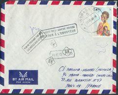 3z. Obl. Dc KINSHASA 30.7.1983 Vers Paris + Griffes N'habite Plus à L'adresse Indiquée, Nom Ne Figurant Pas Sur Les Boît - Zaïre