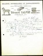 FACTURE OU LETTRE ANCIENNE DE PIERRE-SÉGADE- 1905- SELLERIE-BOURELLERIE- HARNACHEMENT- BELLE ILLUSTRATION- 2 SCANS- - Andere