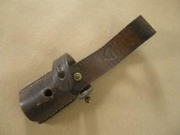 Gousset Ou Porte Baïonnette En Cuir Brun Pour Baïonnette Mauser Yougoslave Mle 44 - Armes Blanches
