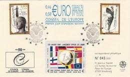 Conseil De L' Europe Enveloppe Premier Jour Strasbourg 18/9/1999 - Tirage Limité 43/500 - Lettres & Documents