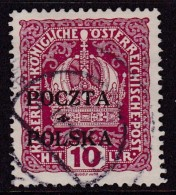 POLAND 1919 Krakow Fi 33 Used FORGERY (stamped Falsch On Back) - Usados